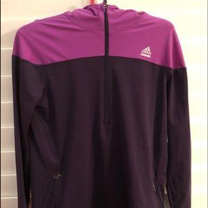 Adidas plum and purple 1/4 zip jacket NWOT